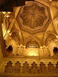 Cupola of Mihrab - the Cordoba Mosque